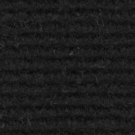 Ribbed Lining Carpet - Black