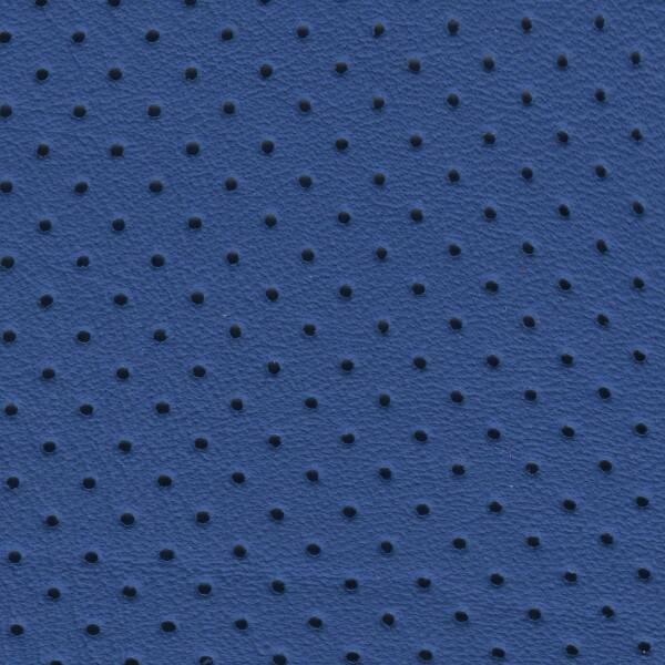Clearance Leather Half Hide - Cobalt Blue Perf