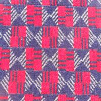 Bus Moquette - Red/Blue Check