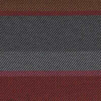 OEM Seating Cloth - Citroen C1 - Horizontal Stripe (Red/Orange/Grey)