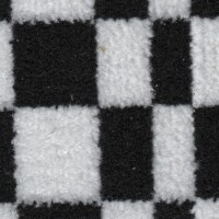 OEM Seating Cloth - Porsche - Pascha (Black/White)