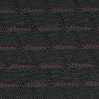 OEM Seating Cloth - Volkswagen Cross Polo - Stripe Cable (Anthracite/Red)