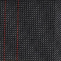 OEM Seating Cloth - Volkswagen - Vertical Stripe (Anthracite/Red)