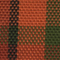 OEM Seating Cloth - Volkswagen Westfalia T2 - Tartan (Red/Orange/Green)