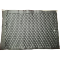Quilted Leather PreFab Panel - Diamond (Black on Black)