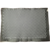 Quilted Leather PreFab Panel - Diamond (White on Black)