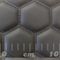 Stitch Quilted Vinyl - Big Hex Black/Black