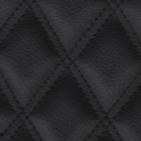 Stitch Quilted Vinyl - Double Diamond (Black on Black)