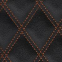 Stitch Quilted Vinyl - Double Diamond (Orange on Black)