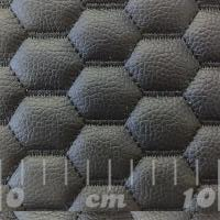 Stitch Quilted Vinyl - Hexabubble (Black on Black)