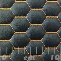 Stitch Quilted Vinyl - Hexabubble (Orange on Black)