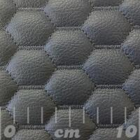 Stitch Quilted Vinyl - Hexabubble (Grey on Grey)