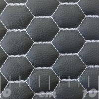 Stitch Quilted Vinyl - Hexabubble (White on Grey)