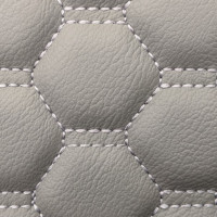 Stitch Quilted Vinyl - Honeycomb Grey/Grey Stitch