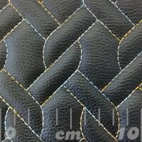 Stitch Quilted Vinyl - Knitted (Rainbow on Black)