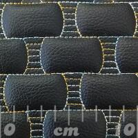 Stitch Quilted Vinyl - Racetrack (Rainbow on Black)