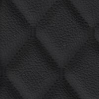 Stitch Quilted Vinyl - Single Diamond (Black on Black)