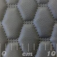 Stitch Quilted Vinyl - Stretchagon (Grey on Grey)