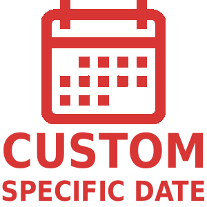 We can arrange for your goods to be delievered on a specific date.