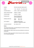Martrim Auto Seat Cloth Safety Specification Sheet